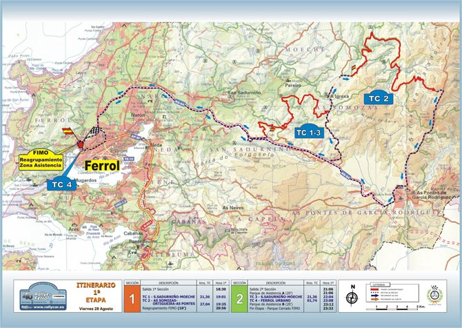 28-29 Agosto Rally Ferrol Mapa-1-etapa-p