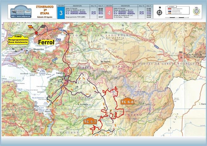 28-29 Agosto Rally Ferrol Mapa-2-etapa-p